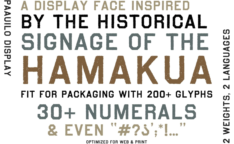 Neversink's Pa'auilo 3 typeface