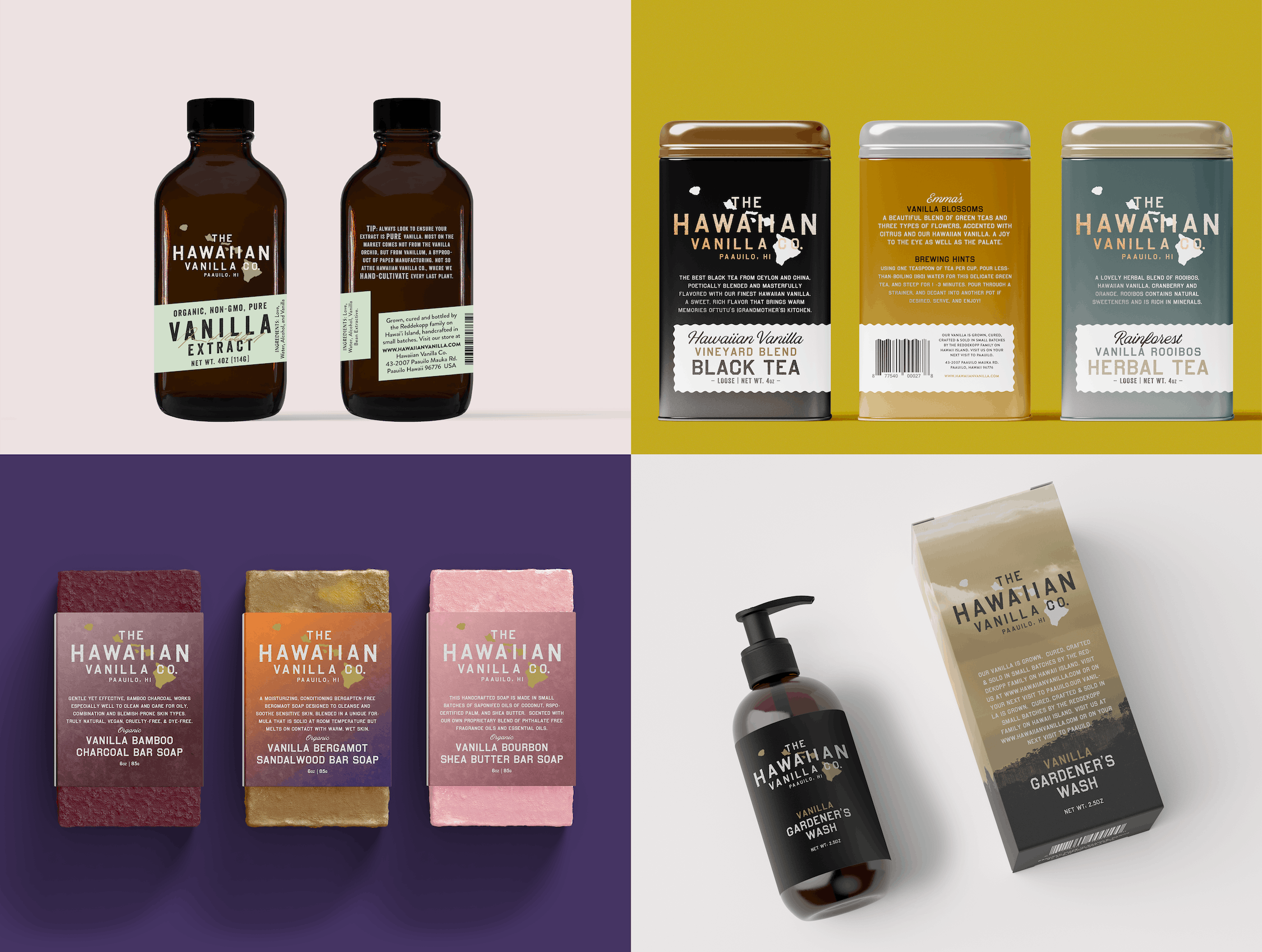Hawaiian Vanilla Co. Product Packaging