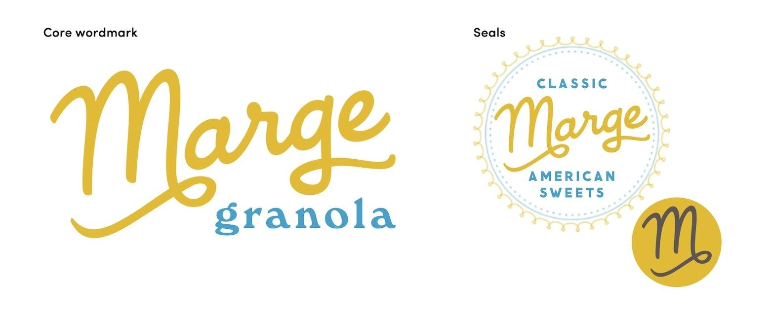 Marge Granola Logotypes