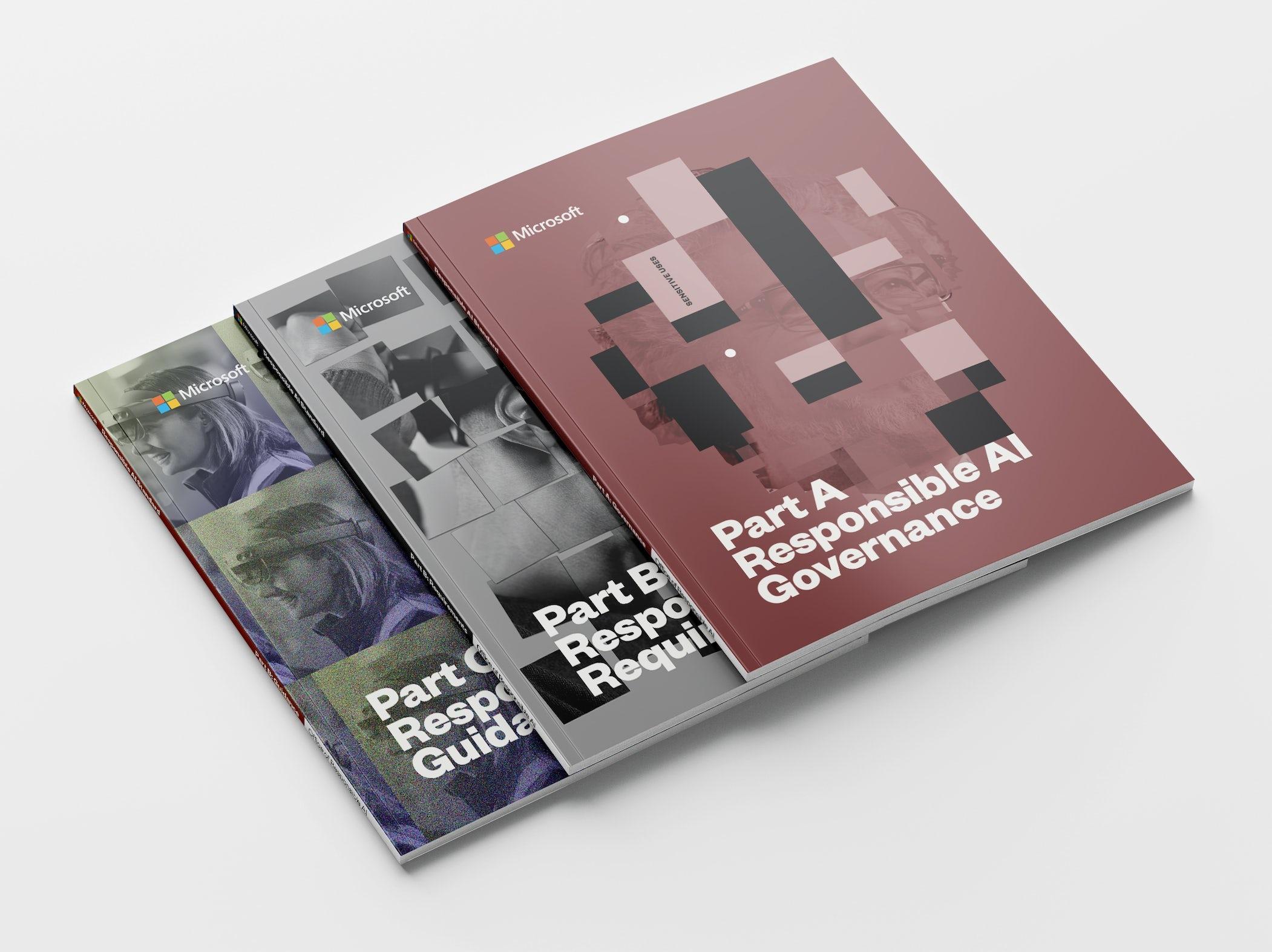 Microsoft Responsible AI Standards manual covers